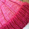 Knitted pink beanie, ladies beanie, ladies pink hat
