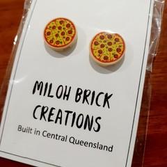 Pizza & Pizza Slice Stud Earrings