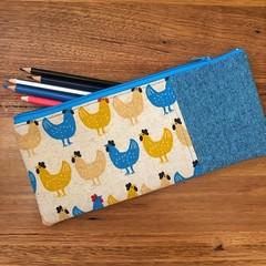 Pencil Case - Chickens