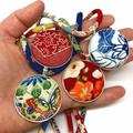 Kimono Necklace/Pendant -  Blue Florals
