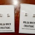 Teeny Square Printed Stud Earrings