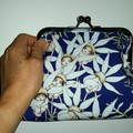 Blue Flannel Flower babies clutchbag