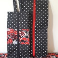 SHOE /TRAVEL BAG (S) - Black Cream and Red