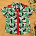 Boy's Button up Shirt - Retro Red Toucans - Size 3