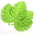 Tropical Leaf shapes. Green safari or jungle party monstera leaf. Green leaves.