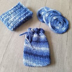 Crochet Spa Set - Face scrubbies, soap saver, washer