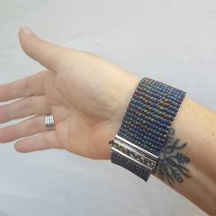 Gorgeous seed bead woven cuff bracelet