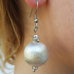 Classic and elegant Silver ball drop earrings