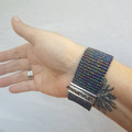 Gorgeous seed bead woven cuff bracelet
