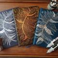 A5 hardcover minimalist notebook,Doodle art,Zen tangle art,Doodle feather
