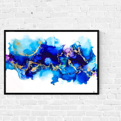 Original alcohol ink Artwork |   ink painting | wildfire