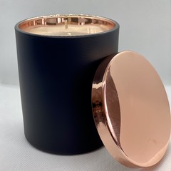 100% Soy Wax Hand Poured Candle | Black & Rose Gold Jar | Lychee & Hyacinth