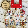 """Boys Overalls """"Little Cowboys"""" Made to Order  Sizes 000-2"""