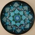 Hand painted small ceramic plate,Wall decor,Mandala style,Wall hanging