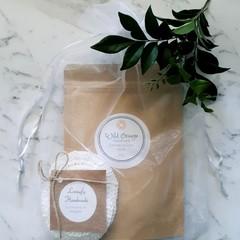 Wild Orange Exfoliating Face Scrub & Eco Face Scrubbies Pamper Pack GiftSkincare
