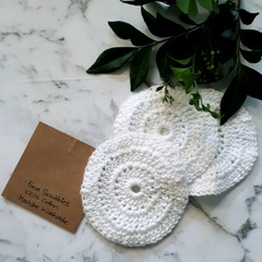 Handmade Eco Reusable Face Scrubbies - Use with Skincare Face Scrub