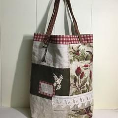 Vintage Style Tote, Project Bag, Market Bag, Vintage Fabrics