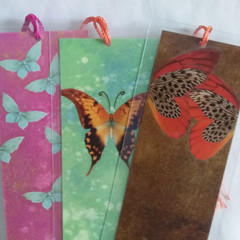 Butterfly Bookmarks x 3