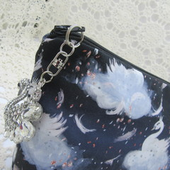 Ladies Clutch - Evening, Day, Wedding, Race Day, Garden Party - Black Swan