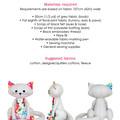 Cat Softie HARD COPY Paper Sewing Pattern Cat Stuffed Animal
