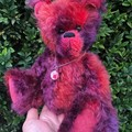 Rhubarb - handcrafted mohair teddy bear, adult collectible