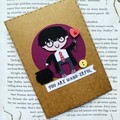 Harry Potter Card - Handmade - gift card - free post - Birthday