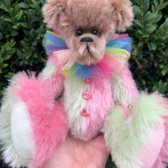 Trix - a Bearly Bears 'jester' mohair teddy bear, adult collectible