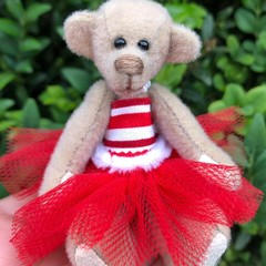 Kristy- a miniature bear, adult collectible, ballerina bear