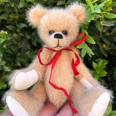 Dawson - a miniature teddy bear, adult collectible