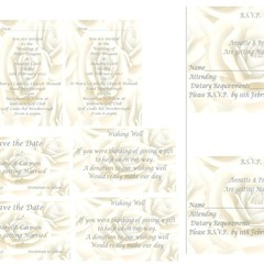 CREAM ROSE WEDDING STATIONERY PACKAGE
