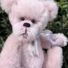 Hadley - handsewn alpaca teddy bear, adult collectible