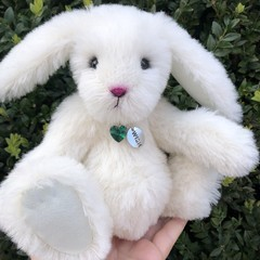 Millie - Handsewn alpaca bunny, adult collectible