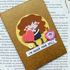 Harry Potter Card Valentine Valentines gift card - Hermione-free post - Birthday