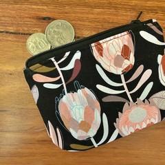 Coin purse - Black Protea