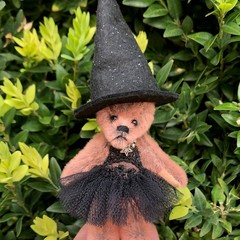 Tamsyn - a miniature bear, adult collectible, witchy-ballerina bear