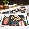 Australian native floral reversible table runner - Banksia