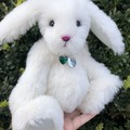 Millie - Handsewn alpaca bunny, adult collectible
