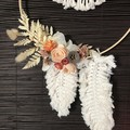 Woodland Way - Double macrame floral hoop wreath - Boho Chic - Natural