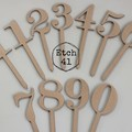 Cake Numbers -  11 piece set