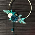 Ocean Song - Floral hoop wreath - Turquoise - Fresh and pretty hanging wall deco
