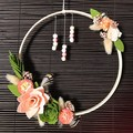 Forest Walk - Floral hoop wreath - Natural hanging decoration modern bohemian