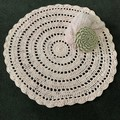 Extra large Pale Pink Crochet floor rug free postage
