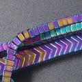 Herringbone Hematite bracelet