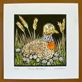 Plains Wanderer Lino Cut Print / Australian Bird Print / Wildlife Art / Original