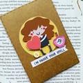 Harry Potter Card Valentine Valentines gift card - Hermione-free post - Birthday
