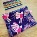 Pencil Case, Zip Pencil Case, Canvas Pencil Case, Pencil Pouch, Cotton Pencil Ca