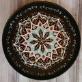 Hand painted round serving platter,Pastel 2020,Wall hanging decor,Exclusive gift