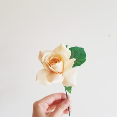 Rose 'Spirit of Peace' || handmade, paper flowers, single stem rose