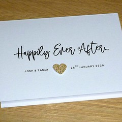 Personalised Wedding  Engagement card - Happily Ever After