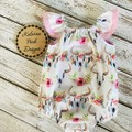 "Seaside Playsuit ""Boho Skulls"" Made to Order sizes 000-2"